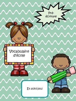 Vocabulaire d'école-School Supplies Vocabulary (French)