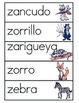 Vocabulario de la letra Z