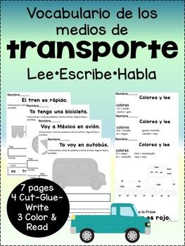 Vocabulario de los medios de transporte {Spanish transport