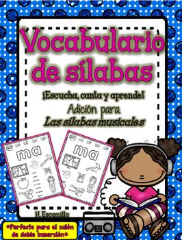 Vocabulario de sílabas - Extensión de Las sílabas musicales