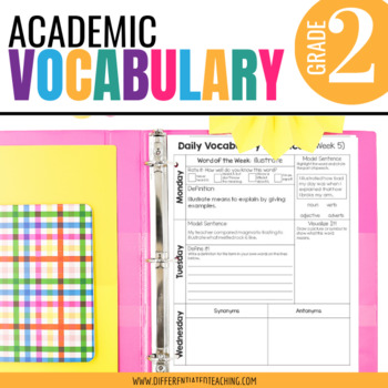 Academic Vocabulary for 2nd Grade: Yearlong Bundle for Mor