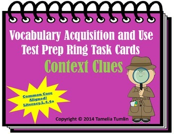 Vocabulary Acquisition Literacy Center Test Prep Rings (Co