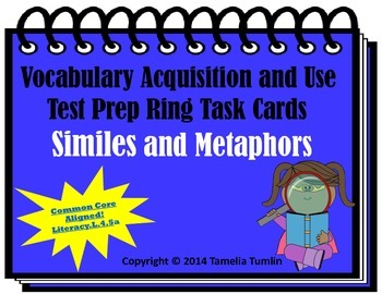 Vocabulary Acquisition Literacy Center Test Prep Rings  (S