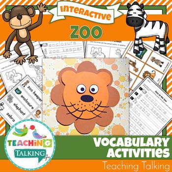 Zoo Theme Vocabulary Activities