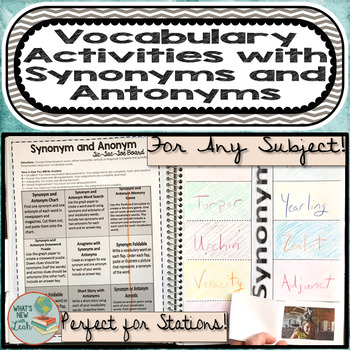 Vocabulary Activities with Synonyms and Antonyms