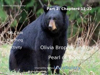 Vocabulary Activity: Olivia Brophie and the Pearl of Tagel