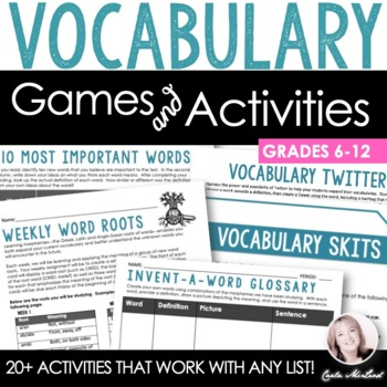 Vocabulary Activity Pack: 20+ Games, Printables & More (Co