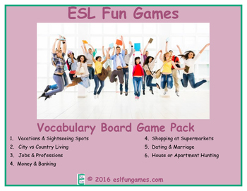 Vocabulary Board Game Pack 5 Game Bundle