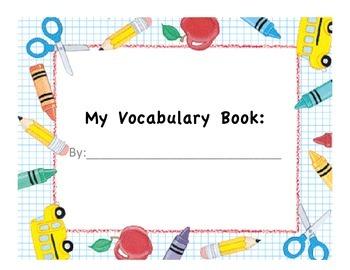 Vocabulary Graphic Organizer (Book)