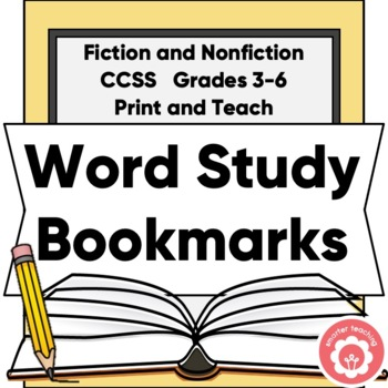 Word Study: Vocabulary Bookmarks