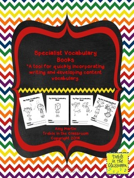 Vocabulary Books for Specialists (Music, Art, Library, and