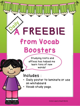 Root of the Day Vocabulary Booster Freebie