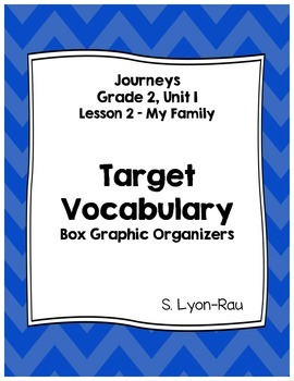 Vocabulary Boxes - Journeys, Grade 2, Lesson 2 - My Family