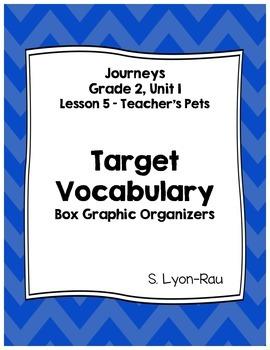 Vocabulary Boxes - Journeys, Grade 2, Lesson 5 - Teacher's Pets