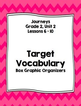 Vocabulary Boxes - Journeys, Grade 2, Unit 2 - BUNDLE