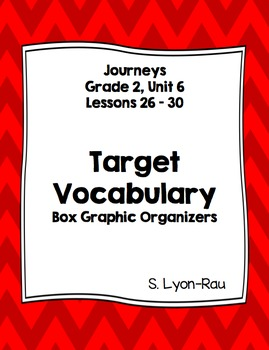 Vocabulary Boxes - Journeys, Grade 2, Unit 6 - BUNDLE