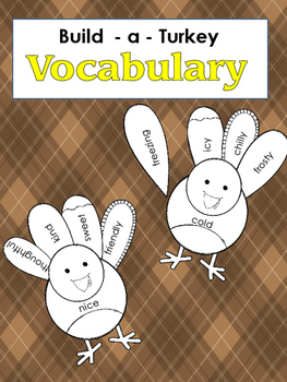 Vocabulary - Build-A-Turkey - Grades 3 to 5