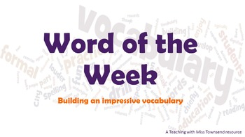 Vocabulary Builder - Bundle 1