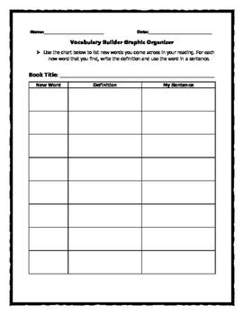 Vocabulary Builder Graphic Organizer