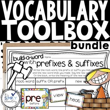 Vocabulary Activities -prefixes/suffixes, homophones, cont