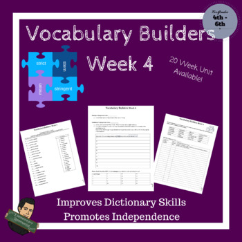 Vocabulary Builders Skills Week 4 (Tests Included)