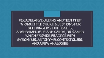 Vocabulary Building and Test Prep – 180 Practice Questions