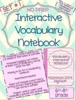Vocabulary-Bundle-No Prep-10-15 Weeks of Instruction, Acti