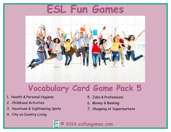 Vocabulary Card Games Pack 5 Game Bundle