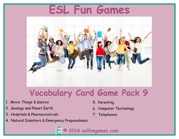 Vocabulary Card Games Pack 9 Game Bundle