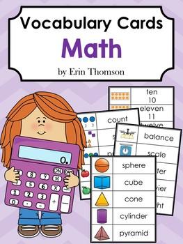 Vocabulary Cards: Math
