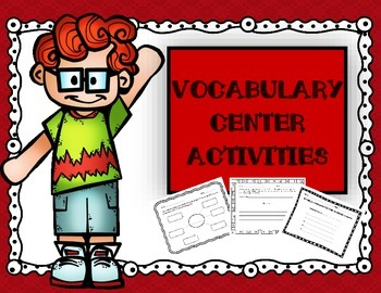 Vocabulary Center Activities