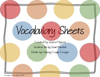 Vocabulary Charts {Common Core}