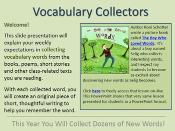 """PREVIEW: Vocabulary """"Collecting"""" Resources for Differentia"""