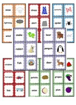 Vocabulary Concentration Set of 8