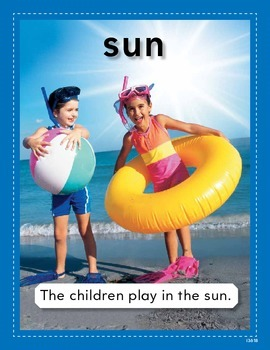 Vocabulary Concept Cards--Sun and Wind