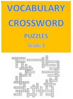 Vocabulary Crossword Puzzles -- Grade 3