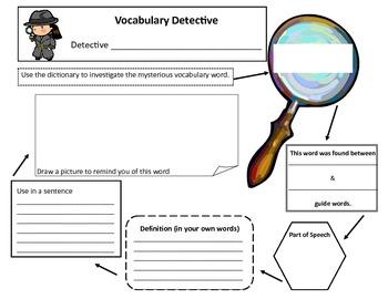 Vocabulary Detective Dictionary Skills for New Vocabulary