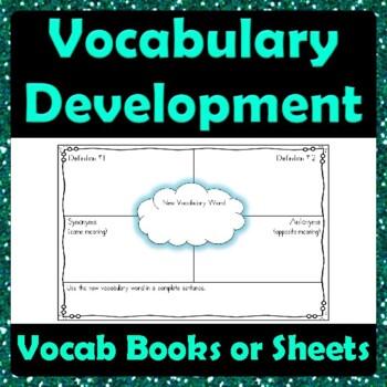 Vocabulary Development Graphic Organizer - Definitions Ant