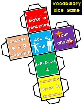 Vocabulary Dice Game