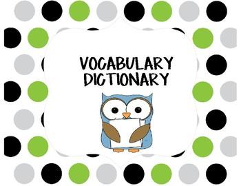 Vocabulary Dictionary Page