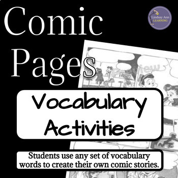 Vocabulary Activity using Comic Pages