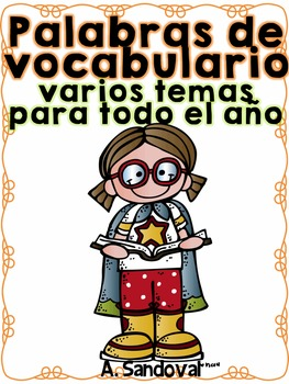 Vocabulary File Folders in Spanish