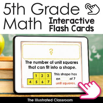 Math Activity Math Flash Cards for 5th Grade Math