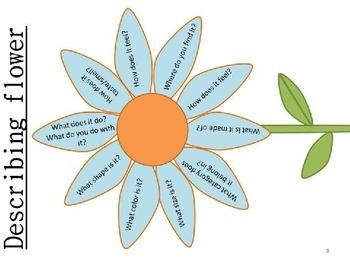 #SLPmusthave Vocabulary Flower craftivity