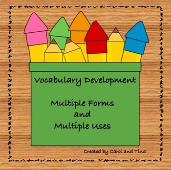 Vocabulary Forms-Helpful for all Subject Areas