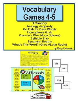 Vocabulary Games 4-5
