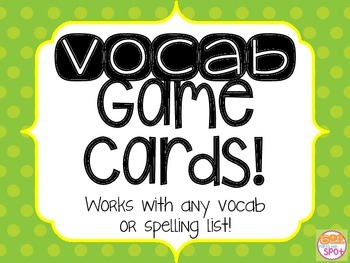 Vocabulary Game Mashup