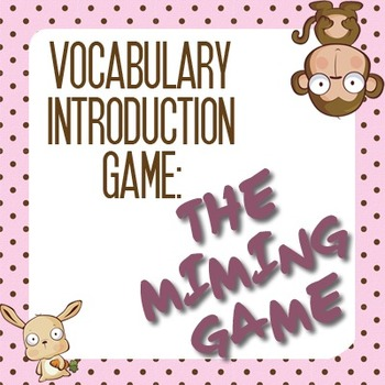 Vocabulary Games: Vocabulary Introduction, the Fun Way! (3)