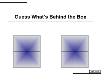 Vocabulary Games What's Behind The Boxes
