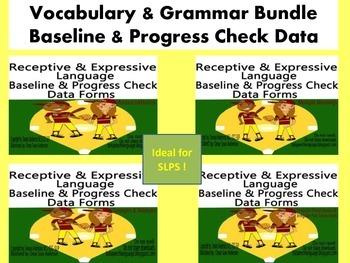 Vocabulary & Grammar Bundle- Baseline & Progress Check Data